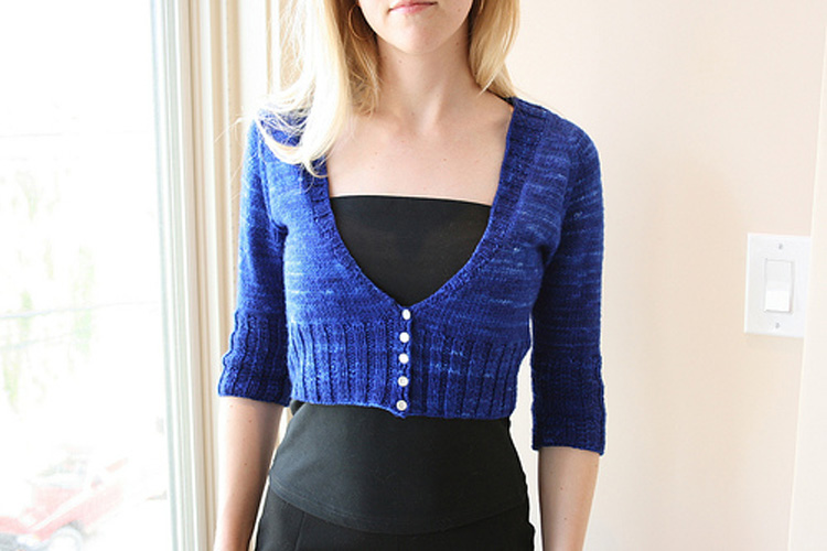 Safire shown in Cobalt Superwash Merino - 1 skein