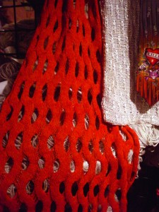 Summit Shawl in Red!
